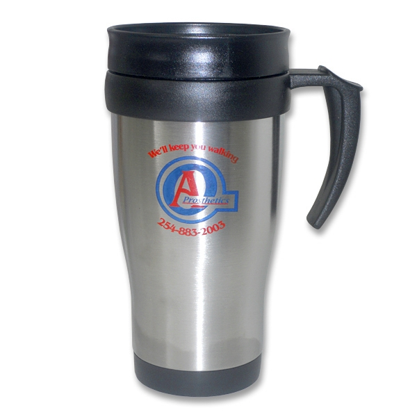 Navigator 16 Oz Double Wall Stainless Steel Outer And Plastic Inner Mug. Bpa Free Photo