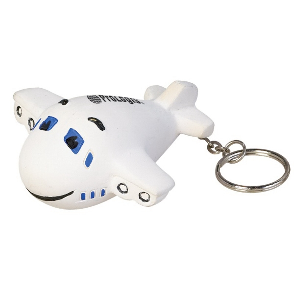 Airplane Shaped Stress Reliever With Key Chain Attachment Photo