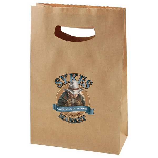 "7"" X 11"" - Die Cut Kraft Bag With Handles Photo"