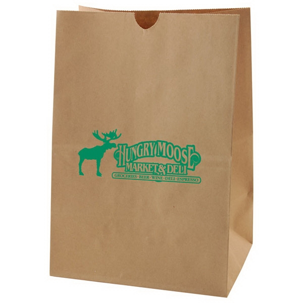 "9"" X 13"" - Die Cut Kraft Bag With Handles Photo"