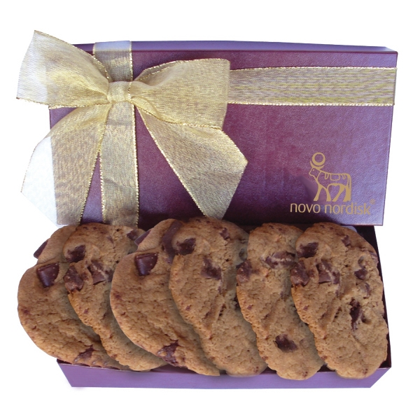 Cookie Box with Large Chocolate Chip Cookies - Bakery Items