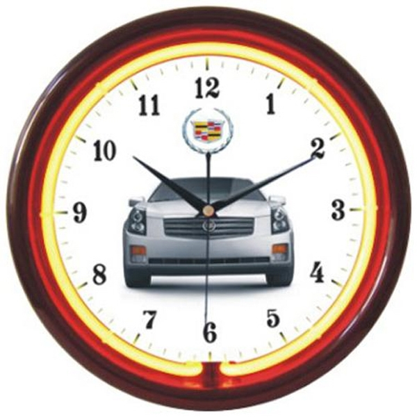 "Single Color Neon Wall Clock, 12"" Diameter Photo"
