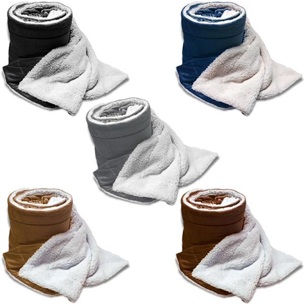 Oversized Micro Mink Sherpa Blanket - Blank