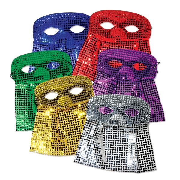 Sequin Masks with Veils