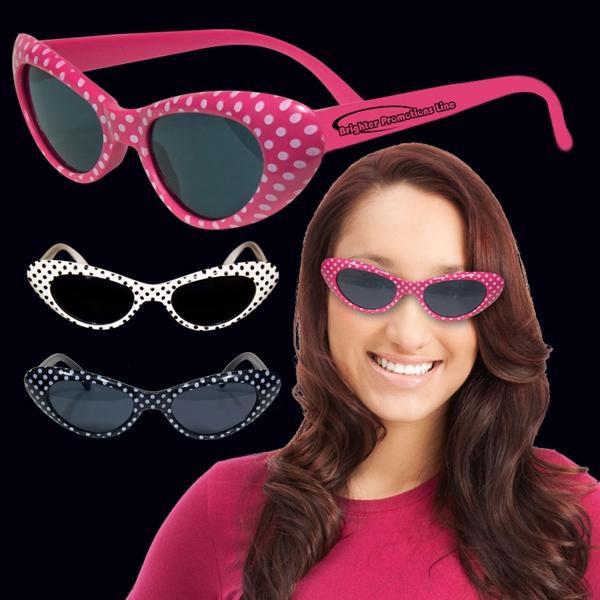 Assorted Colors Polka Dot Funky Costume Sunglasses Glasses