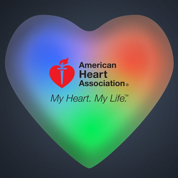 Light Up Aurora Heart Color Changing LED Pin