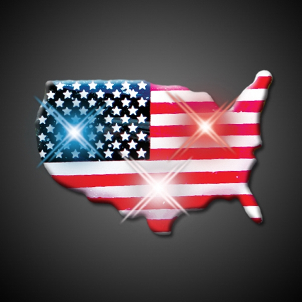 U.S.A. Country Flashing Pin