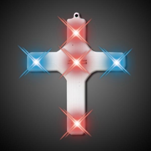 Cross necklace light up jewelry