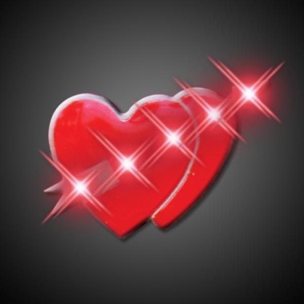 Cupid Hearts Flashing Pins