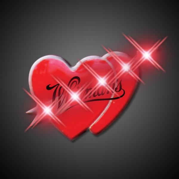 Cupid hearts flashing pin