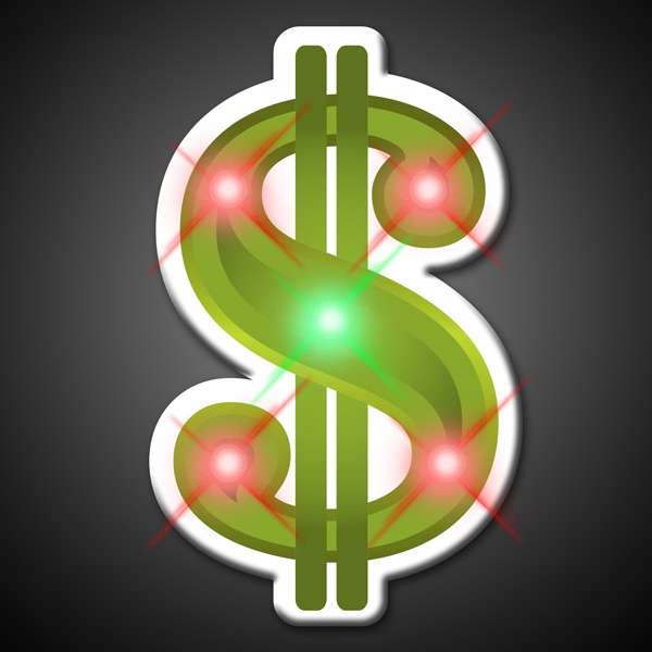 Dollar Sign Flashing Pins
