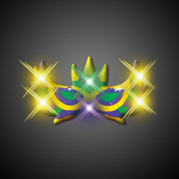 Mardi Gras Mask Blinking Pins - CLEARANCE