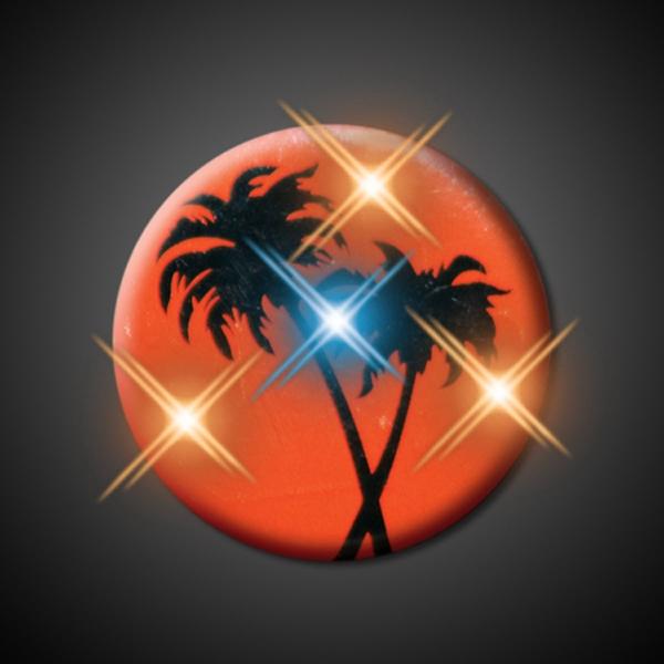 Flashing Palm Trees in Sunset Blinkies