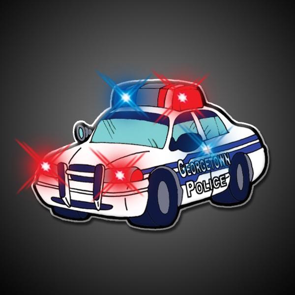 Police Car Flashing Pin