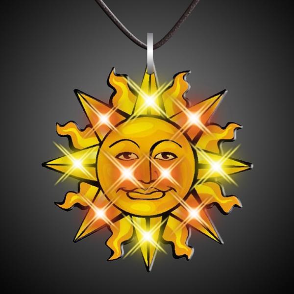 Sun Necklace Flashing Pin
