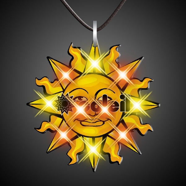 Sun necklace magnetic flashing pin