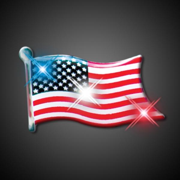American Flag Flashing Pin Blinkies