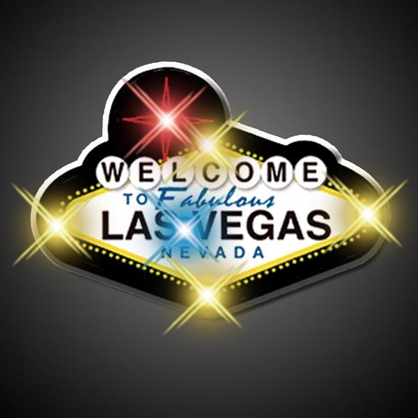 """Flashing """"Welcome to Vegas"""" Flashing Pins"""