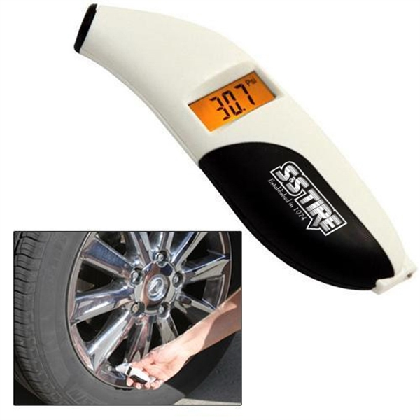 Compact Digital Tire Pressure & Tread Depth Gauge Photo