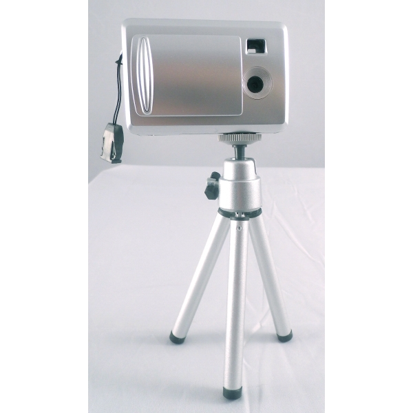 Digital Camera With Telescoping Tripod With Self Timer Photo