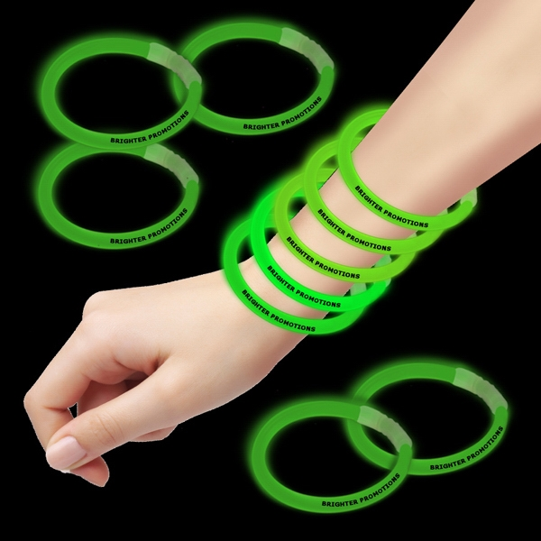 "Green 8"" Single Color Superior Glow Bracelet Photo"