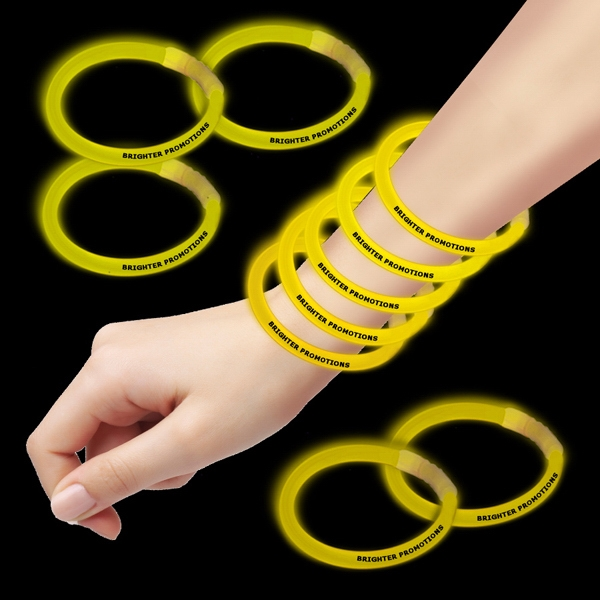 "Yellow 8"" Single Color Superior Glow Bracelet Photo"