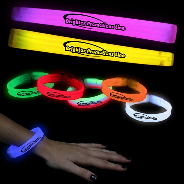 "8"" Deluxe Triple Wide Glow Bracelet Photo"
