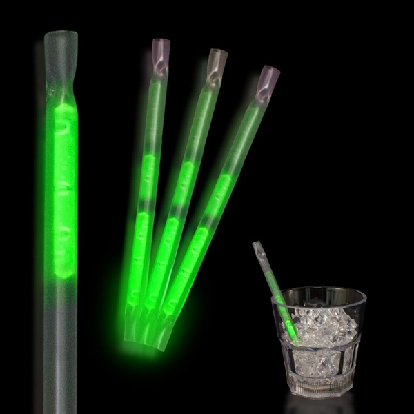 "Green 5"" Glow Motion Straw Photo"