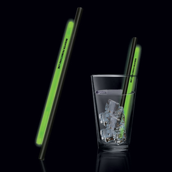 "Green 9"" Glow Straw Photo"