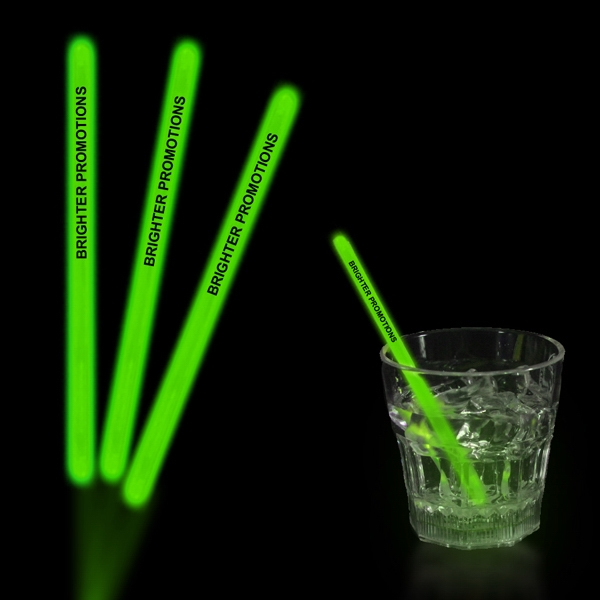 "Green 5"" Single Color Glow Swizzle Stick Photo"