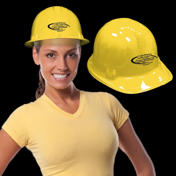 Yellow Plastic Construction Hat Photo