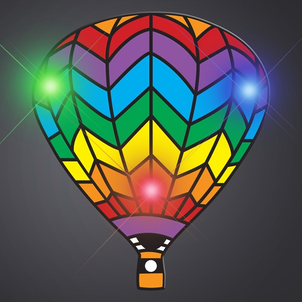 Rainbow Hot Air Balloon Body Light Blinkie