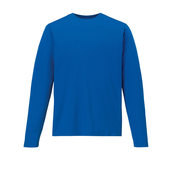 North End (r) Core365 (tm) Agility - S- X L - Men's Performance Long Sleeve Pique Crew Neck Shirt Photo