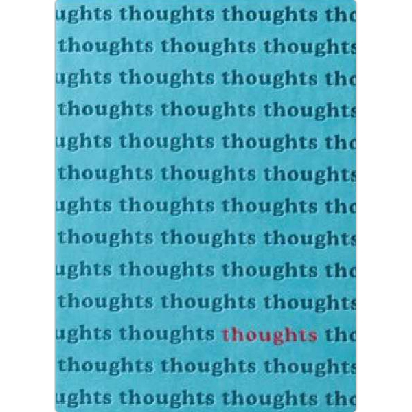 "The Essential Collection Thoughts Print - Flexible Cover Journal With Lined Pages, 5"" X 7"" Photo"