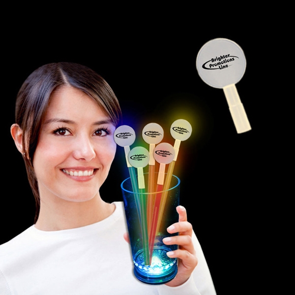 Round Glow Light Up Swizzle Stick Toppers