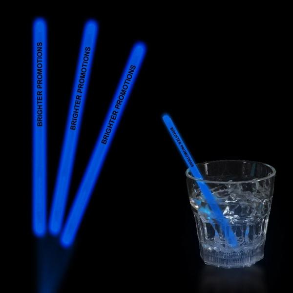 "Blue 5"" Single Color Light Up Glow Swizzle Stick"