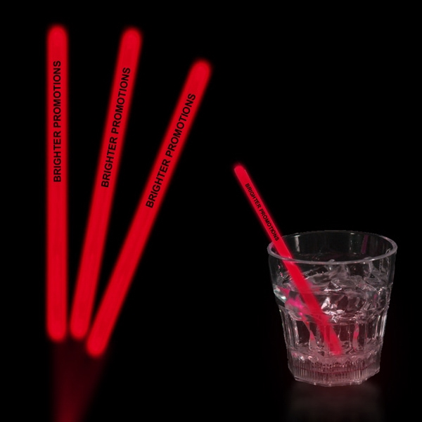 "Red 5"" Single Color Light Up Glow Swizzle Stick"