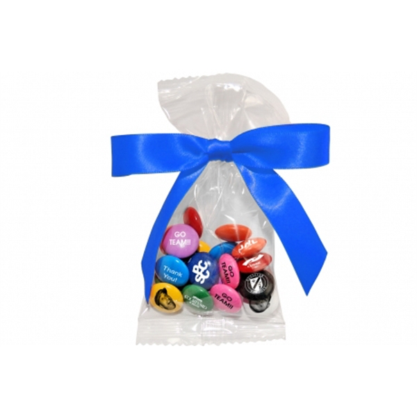 20 Pc Bag Of Printed Candy Coated Chocolate Mints With A Bow. 4 Wrapper Colors Photo