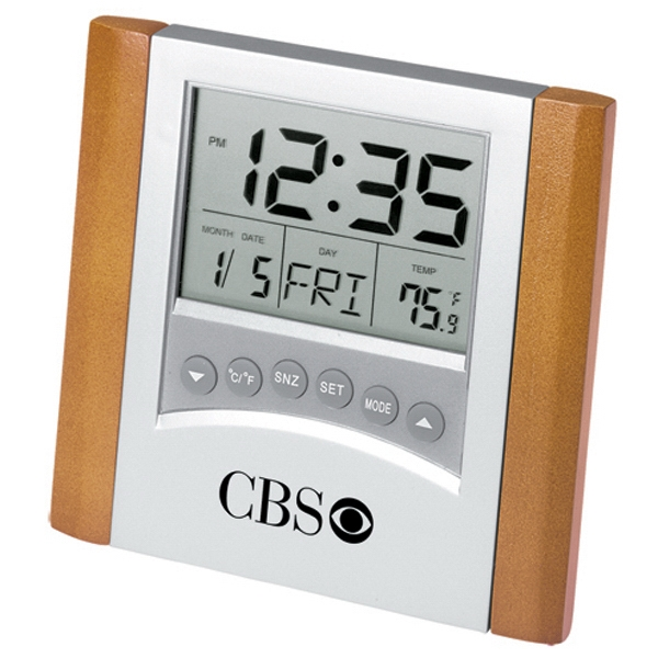 Alarm Clock With Thermometer Photo