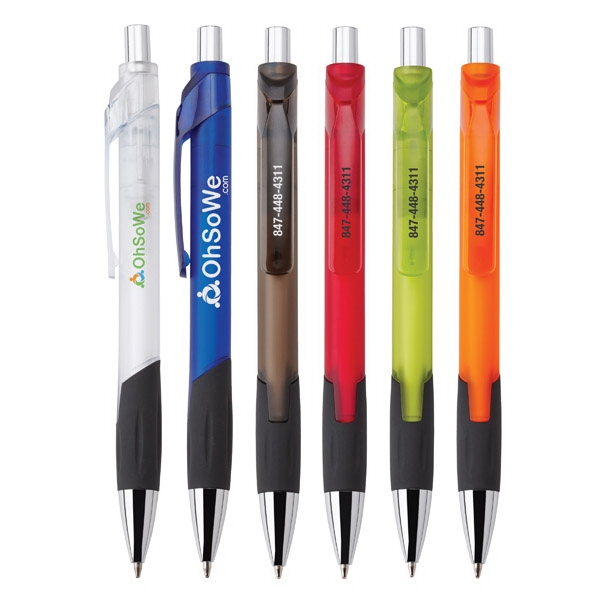 Dario - Plastic Pen With Frosted Translucent Finish And Comfort Grip Photo