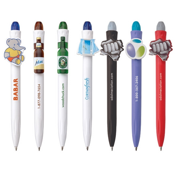 Clippy - Sea - 8 To 9 Weeks After Approval Of Pre-production Sample - Plastic Solid Colored Barrel Pen With Matching Tip Photo