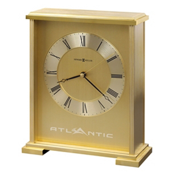 Exton - Metal Carriage Clock Is Finished In Brushed And Polished Brass, Blank Photo