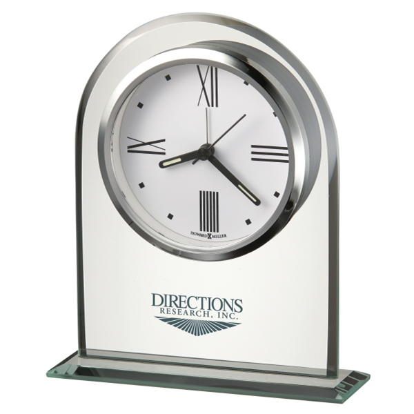 Regent - Alarm Clock Features A Polished Silver-tone Bezel And Custom Dial Photo