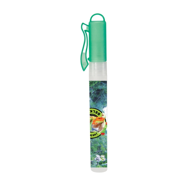 Hand Sanitizer Heros - Green - 10 Ml. Hand Sanitizer Spray Pen. Hand Sanitizer Antibacterial Pen Sprayer Photo