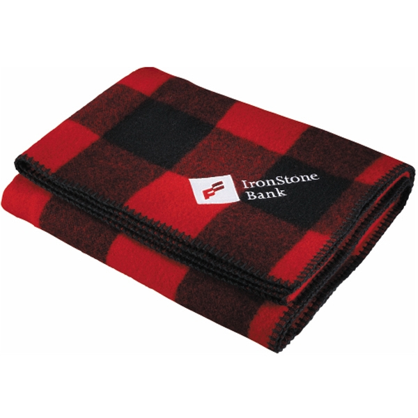 Rough Rider Woolrich (r) - Throw With Red And Black Buffalo Check Pattern Photo