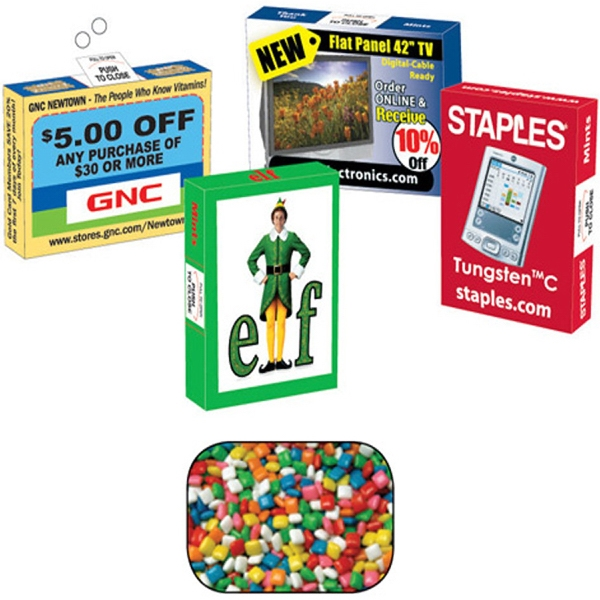 Gum Freshener - Advertising Box With Gum. Chewing Gum In Eco Friendly Gum Box Photo