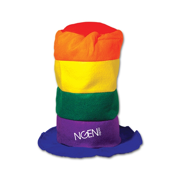Rainbow Stove Top Hat