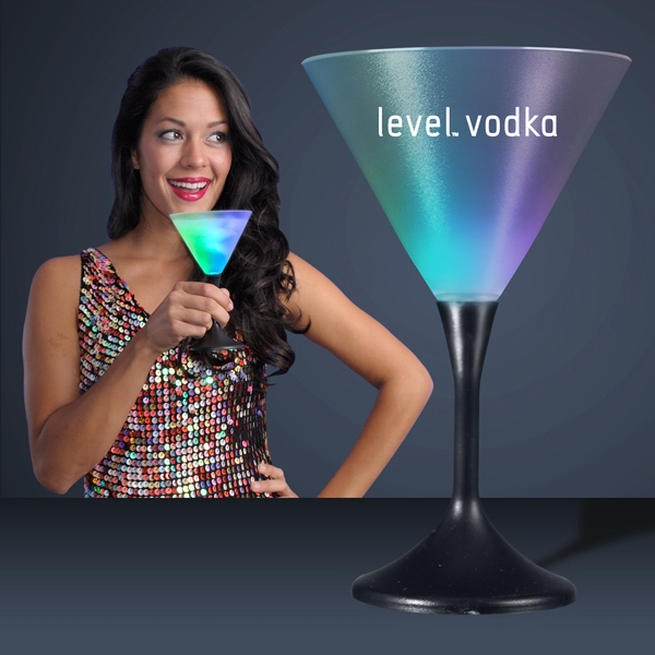 LED Martini Glass with Classy Black Base