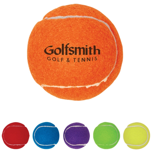 Synthetic Promotional Tennis Ball With Rubber Core And Polyester Felt Exterior Photo