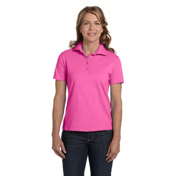 Hanes (r) - Neutrals S- X L - Ladies' 7 Oz. Cotton Pique Polo Shirt Photo
